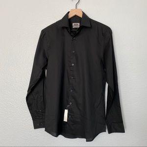 *NWT* UNLISTED Men's Black Dress Shirt Slim Fit, S